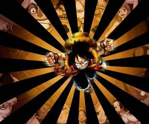 one piece, pirate, and monkey d. luffy image