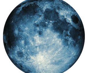 moon, blue, and overlay image
