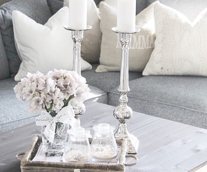 decor, flowers, and grey image