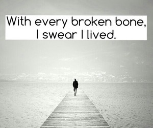 bones, broken, and heart image