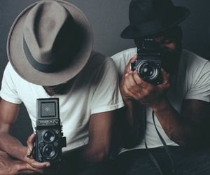 black man, casual, and models image
