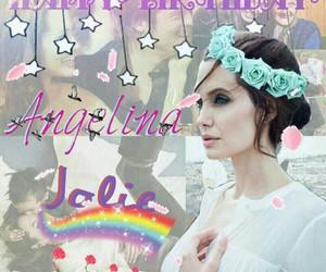 Angelina Jolie, birthday girl, and happy birthday image