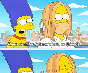 friends, simpsons, and homer image