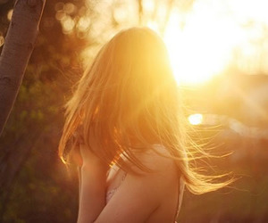 hair, photography, and sun image