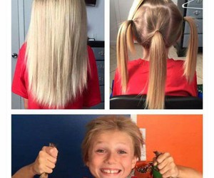 cancer, hair, and boy image