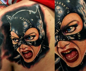 catwoman and tatto image