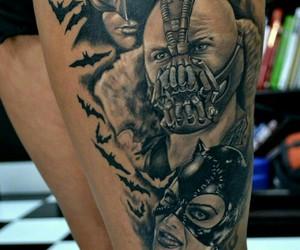 batman, tatto, and catwoman image
