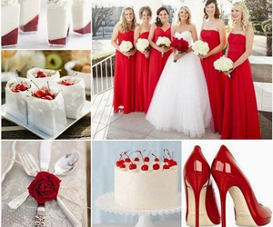 red, wedding, and cherry image
