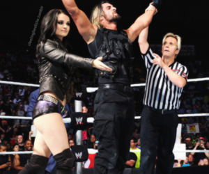paige, wwe, and the shield image