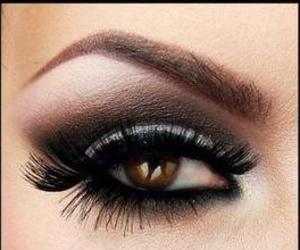 black, brown, and eyes image