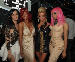 famous, katy perry, and rihanna image