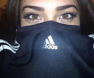 adidas, girl, and eyes image