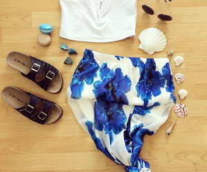 bohemian, outfit, and sandals image