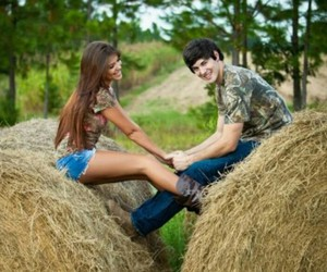 cute couple, country couple, and love image