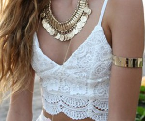 crochet, pretty, and fashion image