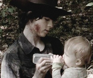 carl, judith, and the walking dead image