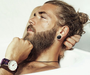 beard, gauges, and handsome image