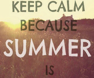 summer and keep calm image