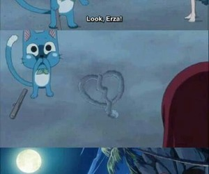 happy, fairy tail, and erza image
