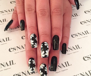 nails, black, and girl image