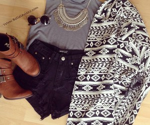 fashion, ootd, and aztec image