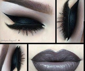 grey, lips, and makeup image