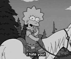 hate, i, and simpson image