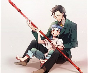 anime, lancer, and fate stay night image