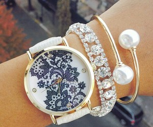 watch, bracelet, and girl image