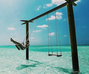 Maldives, water, and paradise image