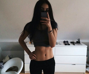 girl, body, and fitness image
