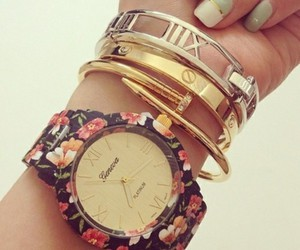 watch, bracelet, and nails image