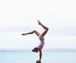 yoga, ocean, and sea image