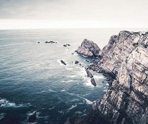 ocean, rocks, and sea image