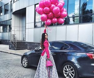car, ballons, and dress image