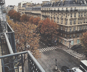 city, autumn, and place image
