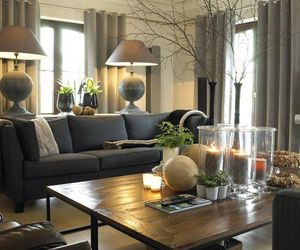 home ideas, living room, and black and nude image