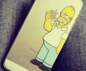 iphone, homer, and apple image