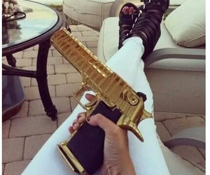 gun and gold image