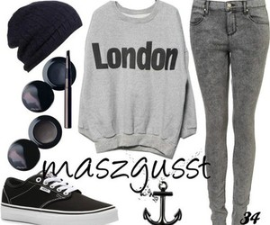 outfit, london, and vans image