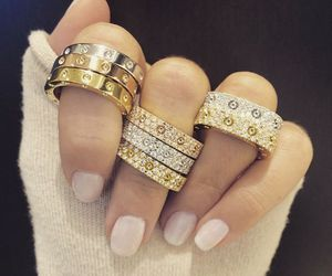 rings, nails, and luxury image
