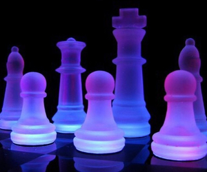 neon, chess, and purple image