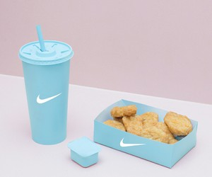 nike, food, and blue image