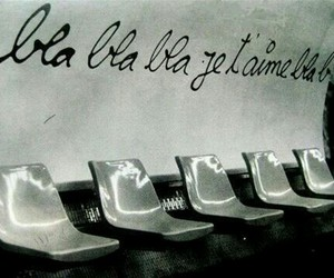 love, je t'aime, and black and white image