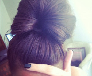 hair, nails, and bun image