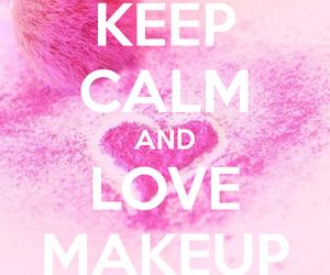 keep calm, makeup, and pink image