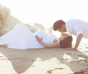 beach, romantic, and love image