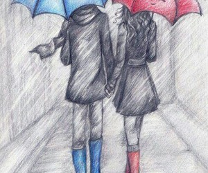 bff, rainy day, and cute outfit image