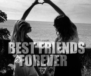 best friends, bffs, and black and white image