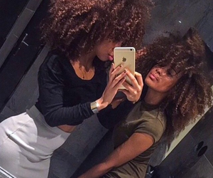 curly hair and girls image